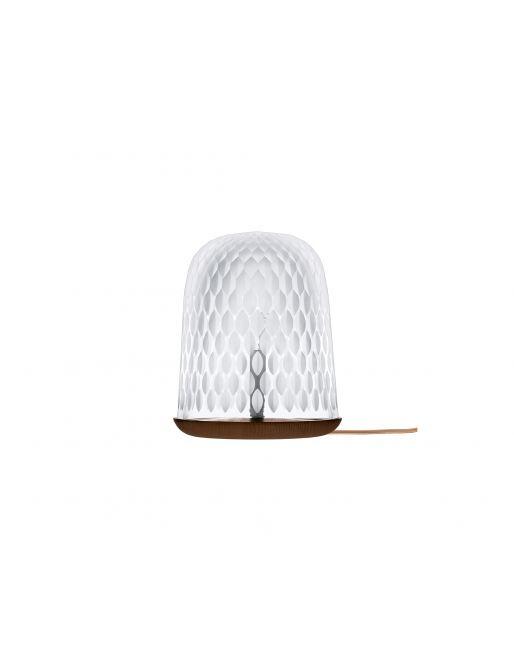 DARK WOOD TABLE LAMP SATIN-FINISHED