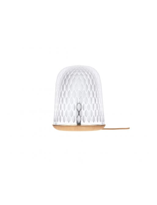 CLEAR WOOD TABLE LAMP SATIN-FINISHED