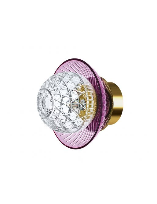 1L AMETHYST GOLDEN FINISH IP44 SCONCE CUP