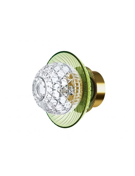 1L C-GREEN GOLDEN FINISH IP44 SCONCE CUP