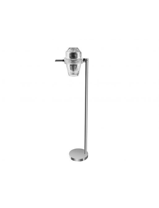 NICKEL-PLATED FINISH FLOOR LAMP