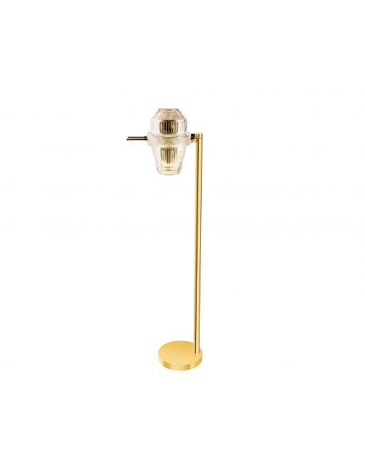 PALE GOLD FINISH FLOOR LAMP
